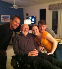 ALS veteran with loved ones